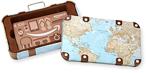 Amazon.de Geschenkkarte in Geschenkbox - 100 EUR (Reisekoffer)
