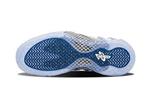 Nike Herren Air Foamposite One Prm Basketballschuhe Silber / Weiß / Blau / Schwarz (Mtllc SLVR / Wht-Dk Ryl-Blck Nn)