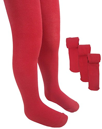 ex-ms-girls-school-tights-3-pairs-of-quality-bodysensor-soft-cotton-lycra-stretch-tights-red-6-7-yea