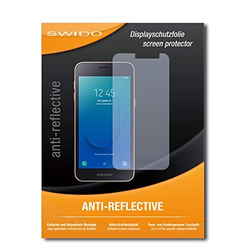 SWIDO Bildschirmschutz für Samsung Galaxy J2 Core [4 Stück] Anti-Reflex MATT Entspiegelnd, Hoher Härtegrad, Schutz vor Kratzer/Glasfolie, Schutzfolie, Bildschirmschutzfolie, Panzerglas Folie
