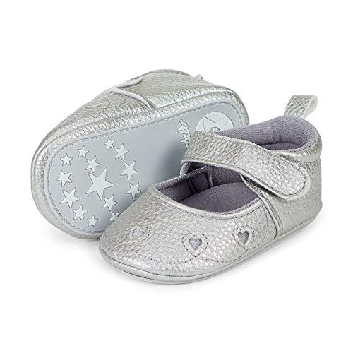 Sterntaler Mädchen Baby Sandalen, Grau (Rauchgrau 566), 22 EU (Schuhe Leder Weiß Baby)