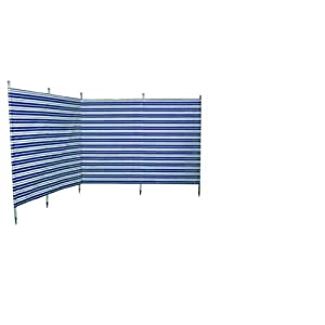 41I2uLKe iL. SS300  - Blue Diamond Camping 5 Pole Navy Striped Windbreak