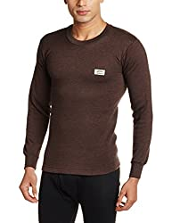 Rupa Thermocot Mens Synthetic Thermal Top (8903978492124_VOLCANO R-N F-S -80_Brown)