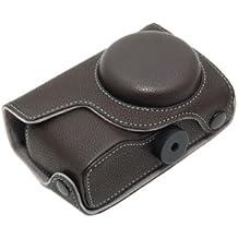 Delamax - Funda para Ricoh GX200 y GX100, diseño retro, color marrón oscuro