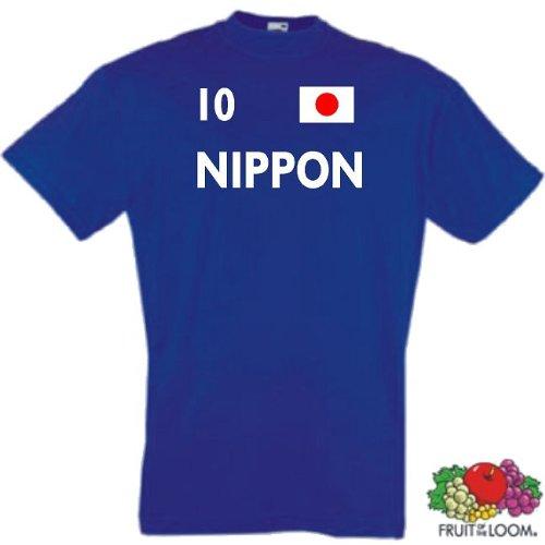 world-of-shirt Herren T-Shirt Japan / Nippon im Trikot Look 14-