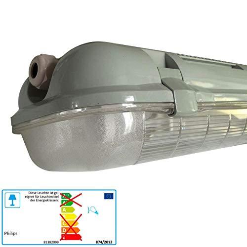 feuchtraumwannenleuchte PHILIPS Feuchtraumwannenleuchte mit Edelstahlverschlußclipsen Leuchtstofflampe 2x58 Watt EVG IP65