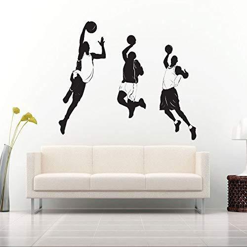 zqyjhkou Beste förderung DIY Basketball Kunst Aufkleber wandbilder Basketball Spieler kinderzimmer Dekoration DREI Spieler wandaufkleber yy354 58x56 cm