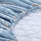SHEETS&BED Trapuntato Lenzuolo con Angoli, Copertura di Base Montato Rilievo di Materasso Inverno Caldo Materasso Toppe Morsetto Soldi 11.8 Pollici Profondo 1 pz-F W200xH220cm(79x87inch)