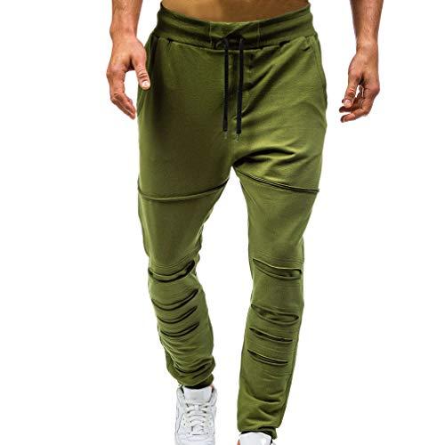 Juleya Hommes Sweatpants - Vintage Ripped Pantalons Fitness Hiphop Pantalons de Jogging Slim Fit Casual Pantalon pour la séance d'entraînement, Gym, Jogging, Courir, Formation
