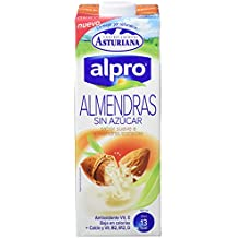 Alpro Central Lechera Asturiana Bebida de Almendra Sin Azúcar - Paquete de 8 x 1000 ml