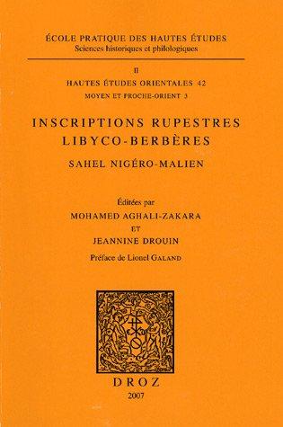 Inscriptions rupestres libyco-berbères : Sahel nigéro-malien, sites d'Iwélen et d'Adar-en-Bukar