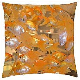 Doormat bag Goldfish Fantails. - Throw Pillow Cover Case (18