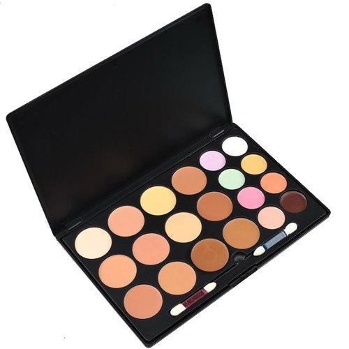 Contever® Professional Palette Fondation 20 couleurs Pour Poudre Pressé Correcteur de teint Anticerne