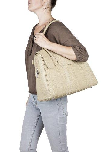 Lässig Tender Brief Bag Wickeltasche/Babytasche inkl. Wickelzubehör, Croco, olive Beige