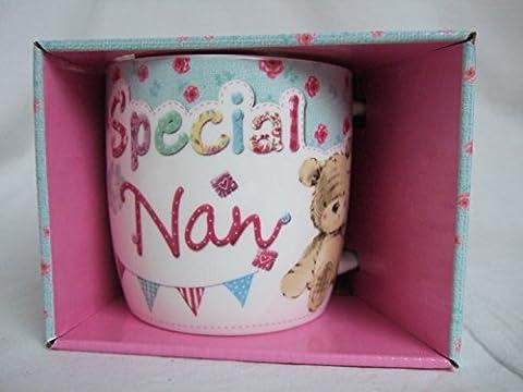 Special Nan Multi Coloured Cute Teddy Bear Sentimental Mug by Teddy Mugs