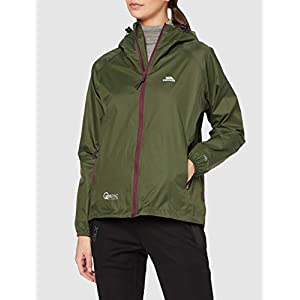 Trespass Qikpac Jacket Female, Moss, S, Compact Packaway Waterproof Jacket for Women, Small, Green