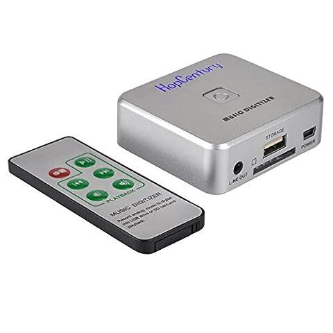 HopCentury Audioaufnahme-Aufnahme mit 3.5mm u. RCA IN Häfen, ferngesteuerte Musik-Sprachaufzeichnungsanlage irgendein Audio als MP3-Akte - Ps2 Dvd Remote
