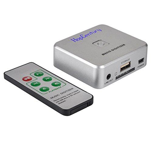 HopCentury Audioaufnahme-Aufnahme mit 3.5mm u. RCA IN Häfen, ferngesteuerte Musik-Sprachaufzeichnungsanlage irgendein Audio als MP3-Akte