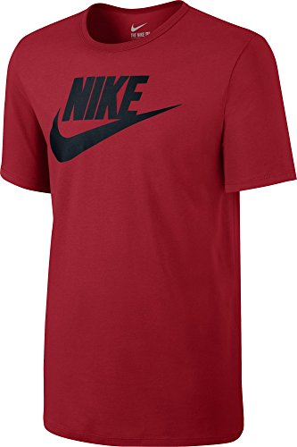 NIKE Herren T-Shirt Futura Rojo / Negro (University Red/University Red/Black)