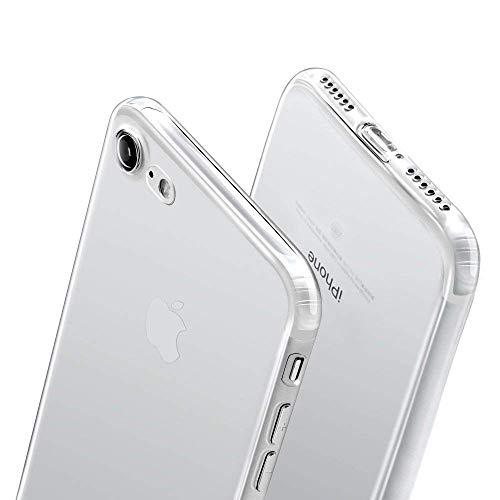 wsky Hülle für iPhone 7 iPhone 8, Schutzhülle für iPhone 8/7 Ultra Dünn Durchsichtige Handyhülle TPU Silikonhülle für iPhone 7-Transparent
