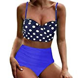 Print Bikini Bow Bain Beachwear Swimsuit Bañadores Mujer, Playa Ropa de Baño Bra Vendaje Color Bikini Sexy Traje de baño Color sólido Cadena Mujer Relleno Sujetador Push-up para Mujer Bikini Set