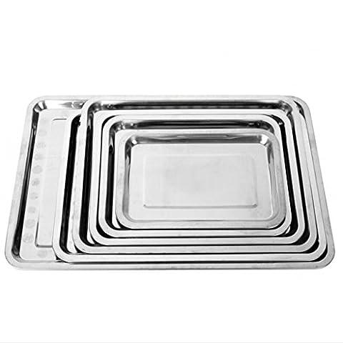 Axiba en acier inoxydable, plateau rectangulaire, plateau Plateau barbecue plats Plat 60*40*2cm