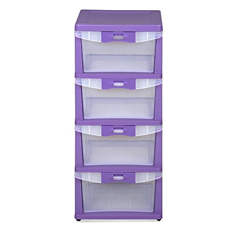 @home by Nilkamal Chest of 4 Drawers (Purple)
