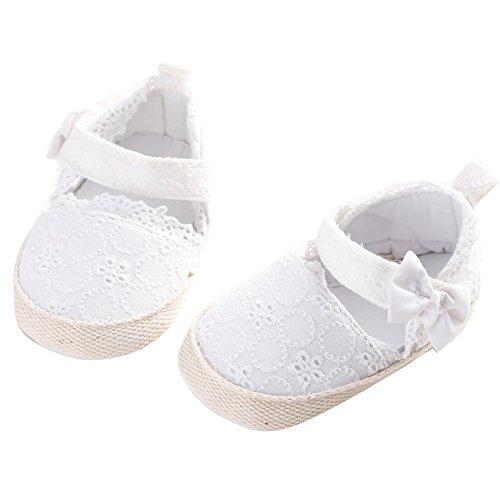 WAYLONGPLUS Baby-Kind-Mädchen Prewalker Sommer Baumwolle weiche Sohle Anti-Rutsch Sandalen Weiß