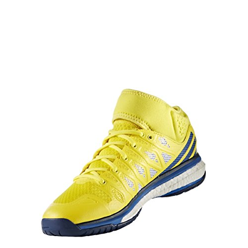 adidas Energy Volley Boost Mid, Chaussures de Volleyball Homme Jaune (Amabri/azul/azumis)