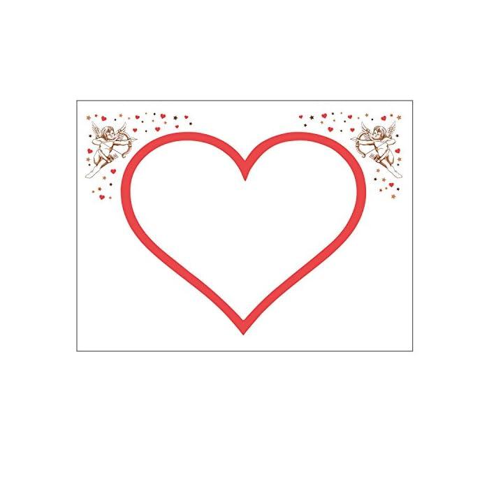 Krause & Sohn HOCHZEITSHERZ Bettlaken Herz zum Ausschneiden Engel Hochzeitsspiele Hochzeit Geschenk