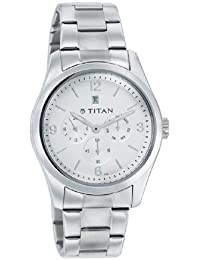 Titan GFSTL Multi-Function Chronograph White Dial Men's Watch -NK9493SM01
