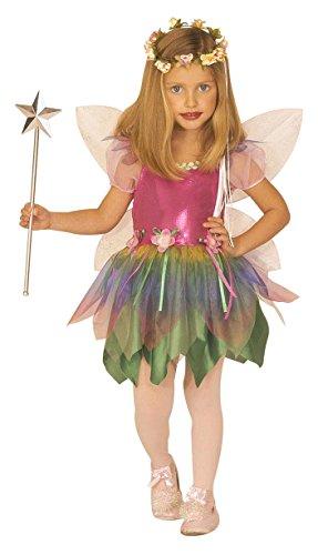 Widmann 55576 - Kinderkostüm Regenbogenfee, Kleid und Flügel