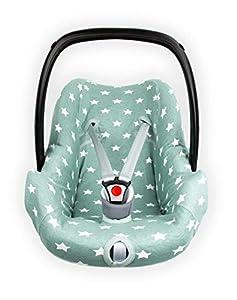 Briljant baby - Funda para Asiento de Coche 0 Thijs - Grupo 0 válido para la Edad de 0 - 12 Meses - 100% Interlock Jade