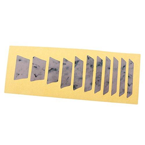 Sharplace 3 Stück Diy Griffbrett Marker Inlay Aufkleber Aufkleber Für Eelctric Gitarre Bass Zubehör