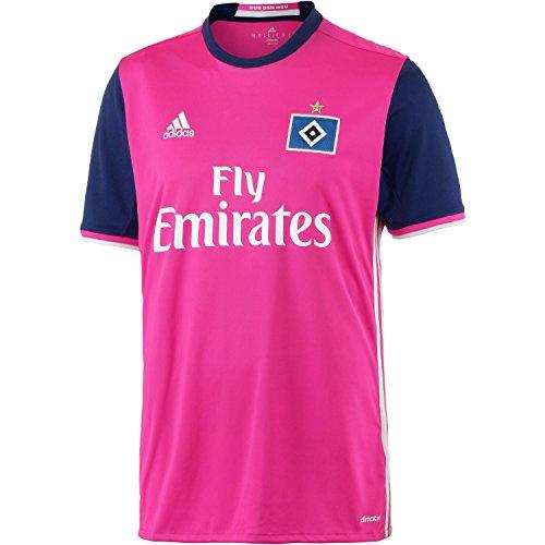 adidas Herren HSV Auswärts Trikot, Shock Pink/White, L