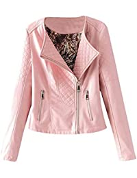 low priced 15d6d 42437 Amazon.it: giacca ecopelle - Rosa / Donna: Abbigliamento