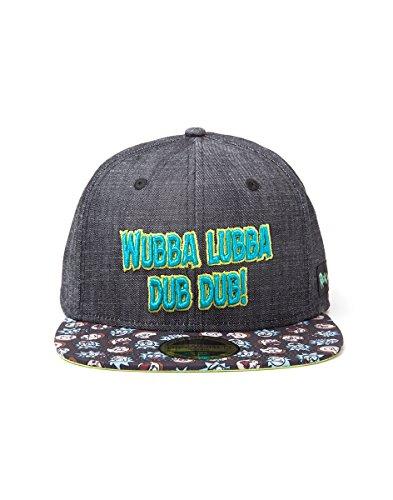 Offiziell lizenzierte Rick und Morty Wubba Lubba Dub Dub Denim Baseball Snapback Cap (Lizenzierte Baseball-hüte)