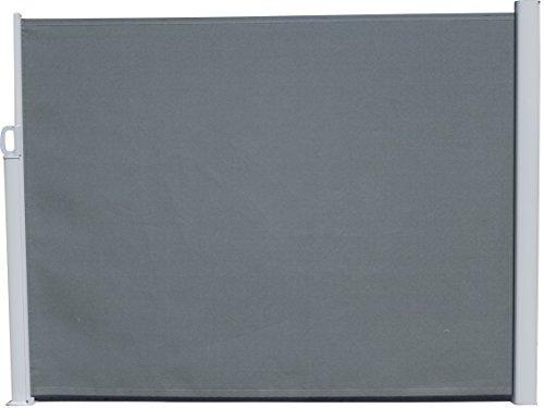 Seitenmarkise grau - 160 x 300 cm - zum Ausziehen