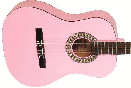 Falcon FL34PK - Chitarra acustica 3/4, colore: Rosa