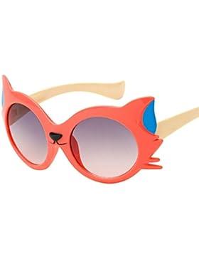 Gafas de Sol Bebe Niña, Zolimx Bebé Niño Gafas de Sol Niño Gato Historieta UV400 de 3-12 Años