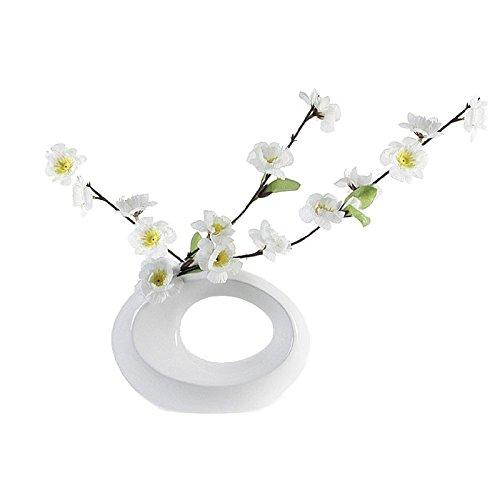 Vase Rondo Keramik oval weiß - 44520