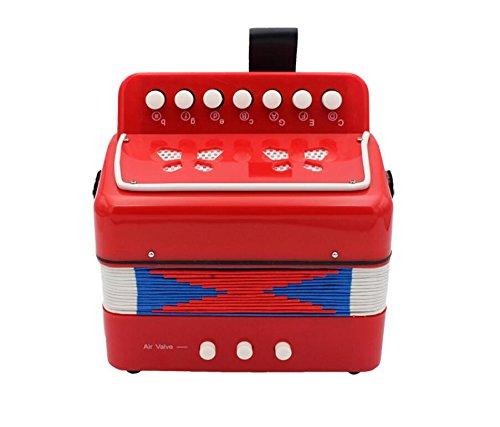 OVVO Kinder Lernspielzeug Kinder Mini Akkordeon Bildung Musikinstrumente Kinder Geschenk Spieler (rot), ABS-Kunststoff, rot, 18 * 18 * 10cm