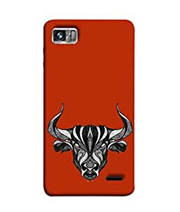 PrintVisa Designer Back Case Cover for Lenovo K860 :: Lenovo IdeaPhone K860 (Zodiac Astrology Bull Animal Horn Raashi)