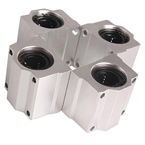 Semoic 4 piezas SC20UU 20mm casquillo deslizante cojinete