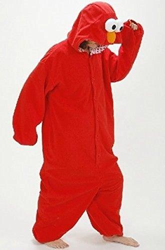 Imagen de adulto unisexo monstruo de galletas elmo sullivan extraterrestre green mikey monster onesie fiesta disfraz de kigurumi con capucha pijama sudadera ropa para dormir regalo de navidad elmo, s height 150cm 160cm