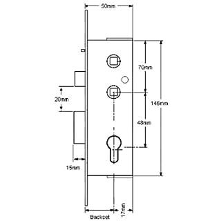 Abt Gibbons Euro Sashlock Case (Aluminium Version)