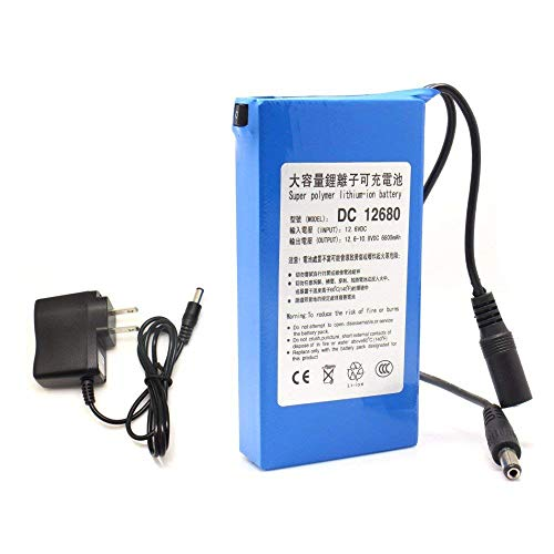 JIAN YA NA DC12680 Batería recargable portátil 6800mAh 12V para cámaras videocámaras