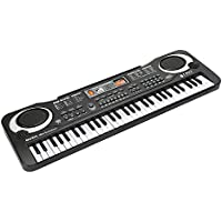 JINRUCHE Multi-function 61 Mini-Key Music Piano Keyboard Portable Electronic Musical Instrument with Microphone For Kids Children Gift