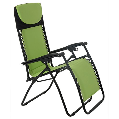 Azuma Padded Zero Gravity Chair - Lime Green