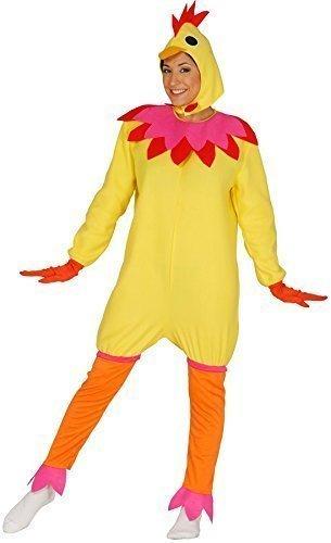Damen Gelb Huhn Ente Junggesellinnenabschied Vogel Oster-küken Hof Animal Türkei Hahn Kostüm Kleid Outfit - Gelb, 42-46